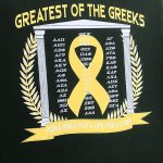 close up of greek shirt