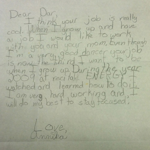 Letter from kid